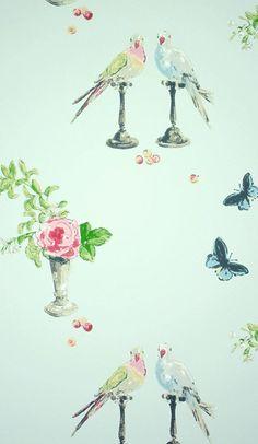 Tapete Perroquet von Osborne & Little - Mint