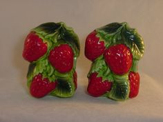 Vintage Holt Howard Strawberry Salt and Pepper by ILuvCollectin, $22.00