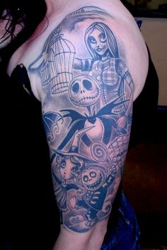 Nightmare Before Christmas by Droopy at Tattoo Royale