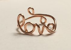 Love Ring  ~Script /Cursive Love ~14K Gold /Rose Gold-Filled /Sterling Silver…