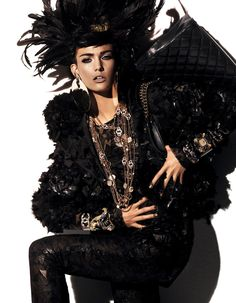 """Kendra Spears by Giampaolo Sgura (""""Fur Regal Reasons"""") - (December 2012) - December 2012 - Fashion Editorials - All about fashion"""