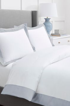 Bedroom Colors, Bedroom Ideas, Duvet Sets, Beautiful Bedrooms, Dream Bedroom, Color Blocking, Duvet Covers, Organic Cotton, Meet