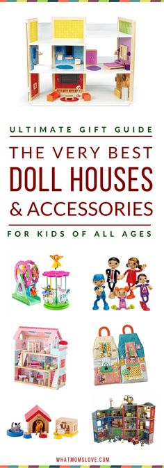 Best Dollhouses & Play House Accessories for Kids | Our top picks have been extensively tested by kids and rated highly in playability, longevity and fun! Guide includes specific product recommendations. A wonderful gift idea (for girls AND boys) for the Holidays, birthday or other special occasion. Click to access the top picks, or pin for later | from What Moms Love