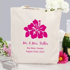 Mark your date with a #Personalized Destination Wedding Tote