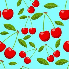 Cherries and leaves vector seamless pattern 01 - https://www.welovesolo.com/cherries-and-leaves-vector-seamless-pattern-01/?utm_source=PN&utm_medium=welovesolo59%40gmail.com&utm_campaign=SNAP%2Bfrom%2BWeLoveSoLo