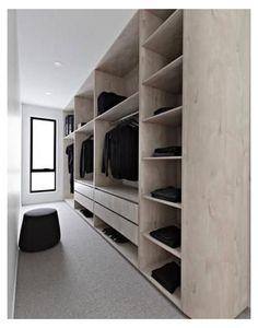 Walk In Robe Designs, Walk In Closet Design, Bedroom Closet Design, Master Bedroom Closet, Closet Designs, Closet Behind Bed, Bed In Closet, Walk In Closet Ikea, Walking Closet