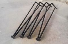 Set 4 Metal Hairpin Legs 28 Paul Mccobb Style by EamesMeme on Etsy, $79.00