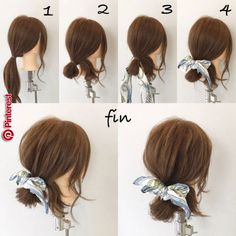 Scarf arrangement (^ ^) I will make a ponytail!… – Scarf arrangement (^ ^) I will make a ponytail!… – Scarf arrangement (^ ^) I. Headband Hairstyles, Girl Hairstyles, Braided Hairstyles, Scarf Hairstyles Short, Simple Hairstyles, Medium Hair Styles, Curly Hair Styles, Hair Scarf Styles, Hair Arrange