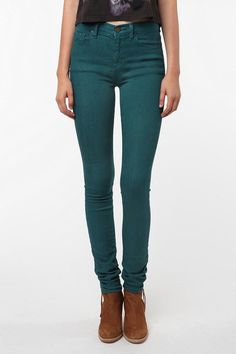 BDG Cigarette High-Rise Jean - Teal  #UrbanOutfitters