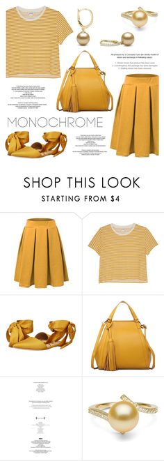 """One Color, Head to Toe"" by pearlparadise ❤ liked on Polyvore featuring Doublju, Monki, Sam Edelman, StyleNanda, monochrome, contestentry, pearljewelry and pearlparadise"