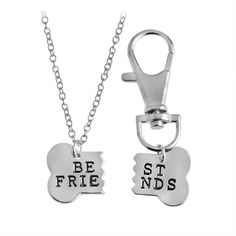 $25.95 NOW $15.95 This custom designed Dog Bone Best Friends Necklace and Chain are a MUST HAVE! Designed with premium high quality materials. Perfect Gift to honor your best pal in the whole wide wor