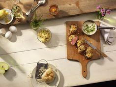 Schweinefilet unter Apfel-Kren-Kruste Dairy, Cheese, Meat, Kitchen, Food, Apple, Simple, Recipies, Cooking