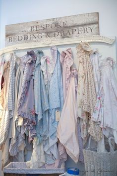 What a chic boutique with all those pastels in a row.