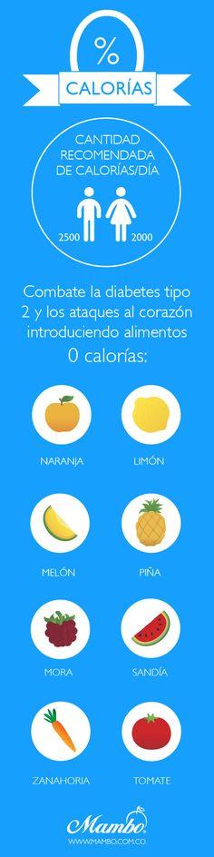 """Grupo de alimentos llamados """"0% calorías"""". Son la naranja, el limón, la zanahoria, el melón, la piña, el tomate, la mora y la sandía. Su aporte calórico es 0 pero su sabor es delicioso.   La amplia variedad nos permite introducirlos en nuestra dieta habitual  crudos, cocinados, en ensaladas, en forma de jugos, como acompañamiento de carnes, pescados, en guisos...  Con un cambio pequeño en los hábitos ayudaremos a combatir enfermedades graves como la diabetes tipo 2 y los ataques al corazón."""
