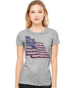Waving Distressed Flag 4th Of July Shirt