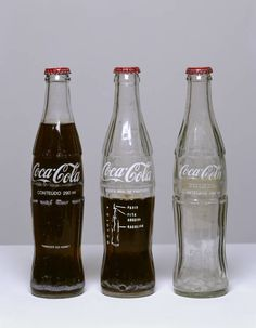 """On the seventies Cildo Meireles would recycle Coca Cola bottles writing on them slogans such as """"Who killed Herzog?"""" """"Yankees Go Home!"""" and instructions to prepare Molotov Cocktails"""