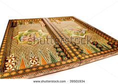 stock photo : persian art design backgammon set