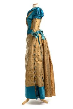 Silk dress, c. 1876 | Flickr - Photo Sharing!