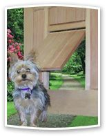 Doors for Your Best Friend -custom wood doggie doors! awesome!!