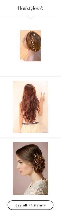 """""""Hairstyles 6"""" by lilacmayn ❤ liked on Polyvore featuring hair, beauty products, haircare, hair styling tools, hairstyles, cabelos, hair styles, beauty, accessories and hair accessories"""