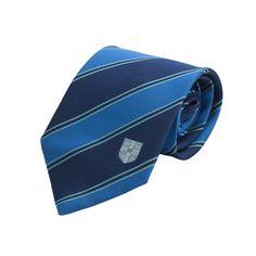 Official University Of Cambridge Double Stripe Blue Coat Of Arms Tie