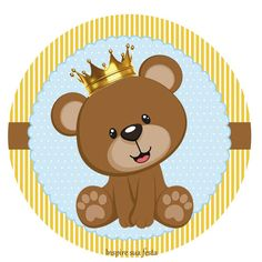 Osito príncipe Baby Shower Oso, Teddy Bear Baby Shower, Bear Clipart, Bear Theme, Baby Shawer, Bear Party, Baby Cards, Baby Quilts, Illustration