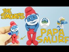 Papa Smurf from The Smurfs - Polymer Clay Tutorial - Blue in Wonderwood - YouTube
