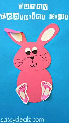 Bunny Footprint Craft For Kids #Easter craft #DIY #Rabbit art project | http://www.sassydealz.com/2014/02/bunny-footprint-craft-kids.html