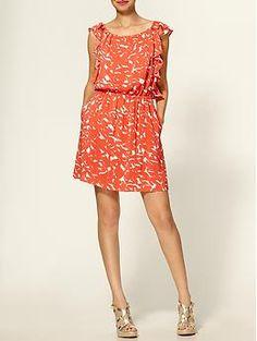 BCBGeneration Ruffle Sleeve Dress. Completely obsessed with orange this season. #tangerinetango #spring2012