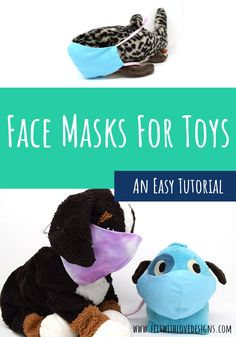 Learn how to Sew a Face Mask for Stuffed Animals and Dolls. With face masks everywhere, using your child's favorite toys could help ease the transition and practice proper hygiene with the masks. The tutorial includes several links to learn how to sew a face mask for your children as well!  #sewingforkids #facemasks #sewing #diy Animal Face Mask, Animal Masks, Face Masks, Animal Sewing Patterns, Felt Patterns, Sewing Stuffed Animals, Stuffed Animal Patterns, Sewing Projects For Kids, Sewing For Kids