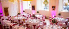 Farnham Castle set up for a Wedding Breakfast