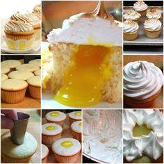 DIY Lemon Meringue Cupcakes