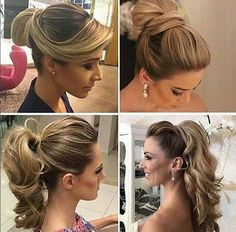 Right corner hairdo Fancy Hairstyles, Ponytail Hairstyles, Wedding Hairstyles, How To Make Hair, Bridesmaid Hair, Hair Dos, New Hair, Bridal Hair, Hair Inspiration