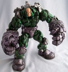 Power Suit Lex Luthor custom action figure from the DC Universe series using Monev the Gale/ Creech/ Hulkbuster IM as the base, created by suprasizeme. Awesome Toys, Cool Toys, Big Boyz, Lex Luthor, How To Make Comics, Custom Action Figures, Dc Universe, Statues, Suit