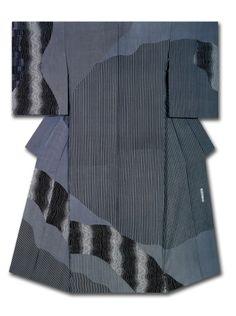 """Essence of Fluctuation"" Kimono created and named by Ohno Shinyuki. Winner of the Osaka Takashimaya Award at the 31st Annual Meeting of the Japanese textile artist Exhibition award. Japan"