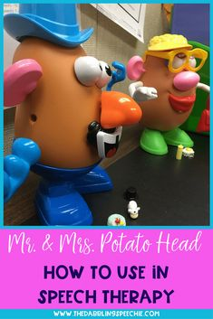 Using Mr. Potato Head in speech therapy is a great way to keep kids engaged while building speech and language skills