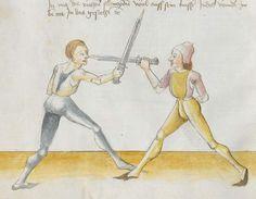Lecküchner, Hans: Kunst des Messerfechtens Nordbayern, 1482 Cgm 582 Folio 32