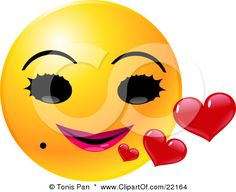 smiley face with lips   Making yourself seem special
