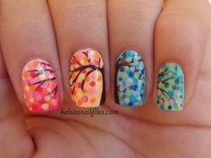 Colorful Tree Nail Art