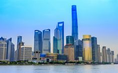 Download wallpapers Shanghai, China, skyscrapers, cityscape, modern architecture, business center, Shanghai World Financial Center