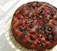 Chocolate, plum, almond (instead of hazelnut), heaps of butter and brown sugar.... Rich, moist, serious cake!