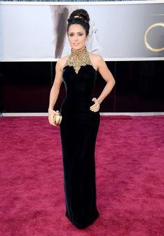 Red Carpet Oscares 2013 Salma Hayek representando a los mexicanos en Alexander McQueen