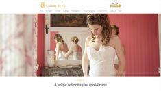 Wedding page - elegant Website design for Chateau du Val, Brittany by Elastic Studio Corporate Id, Unique Settings, Creative Portfolio, Brand Design, Brittany, Special Events, Graphic Design, Website, Studio
