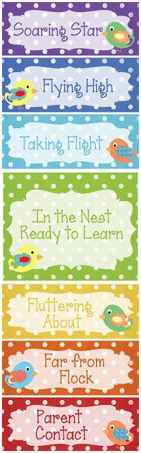 Christy's Customs and the Little House by the Olive Tree: In the Nest, Ready to Learn Classroom Behavior Chart