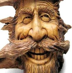 nancy Tuttle , carving found wood