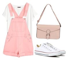"""""""Outfit for a walk with friends"""" by liza-ionova ❤ liked on Polyvore featuring H&M and Converse"""
