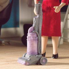 Dolls House 5748 Vacuum cleaner silver 1:12 for dollhouse (PR) NEW! # #DollsHouse