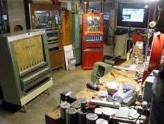 clark whittington, winston-salem, north carolina. artist's studio. founded the art-o-mat project in 1997.