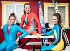 Women ski-jumpers take the leap for first time in 90 years Bobsleigh, Iron Mountain, Unitards, Scuba Girl, Diving Suit, Ski Jumping, Womens Wetsuit, Artistic Gymnastics, Team Usa