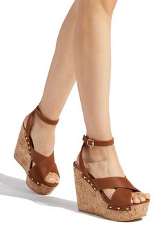 Visit ShoeDazzle for cheap wedges for women and save! Our wedges shoes are on sale for off your first order! Platform Wedge Sandals, Wedge Shoes, Shoes Sandals, Shoes Sneakers, Studded Heels, Ankle Strap Wedges, Shoe Dazzle, Womens Shoes Wedges, Sock Shoes